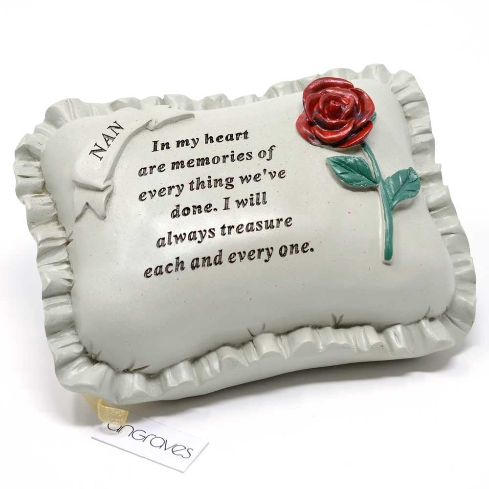 Special Nan With Rose Pillow Graveside Ornament
