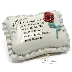 Special Husband With Rose Pillow Graveside Ornament