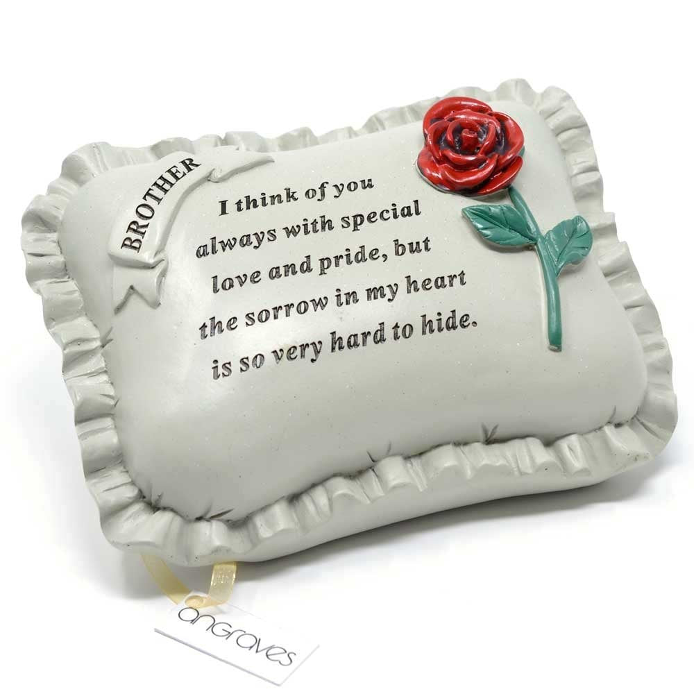 Special Brother With Rose Pillow Graveside Ornament