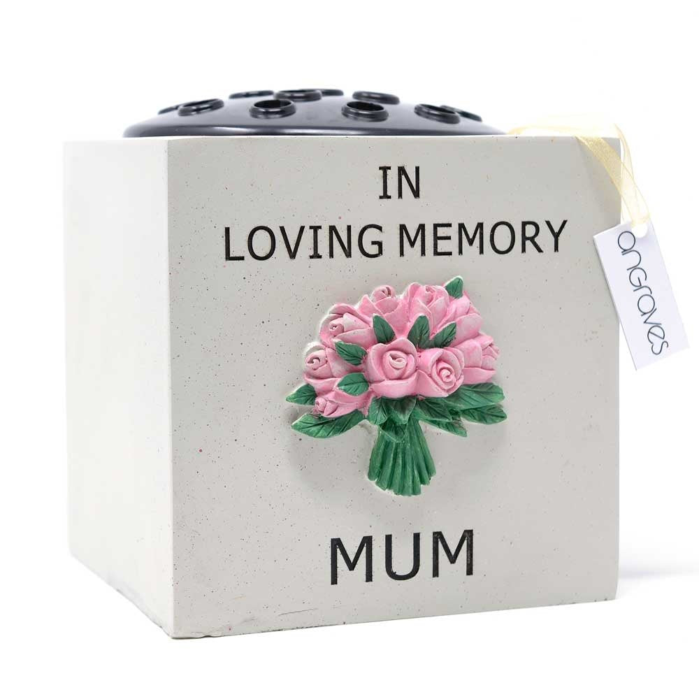 Special Mum Pink Rose Bouquet Flower Vase