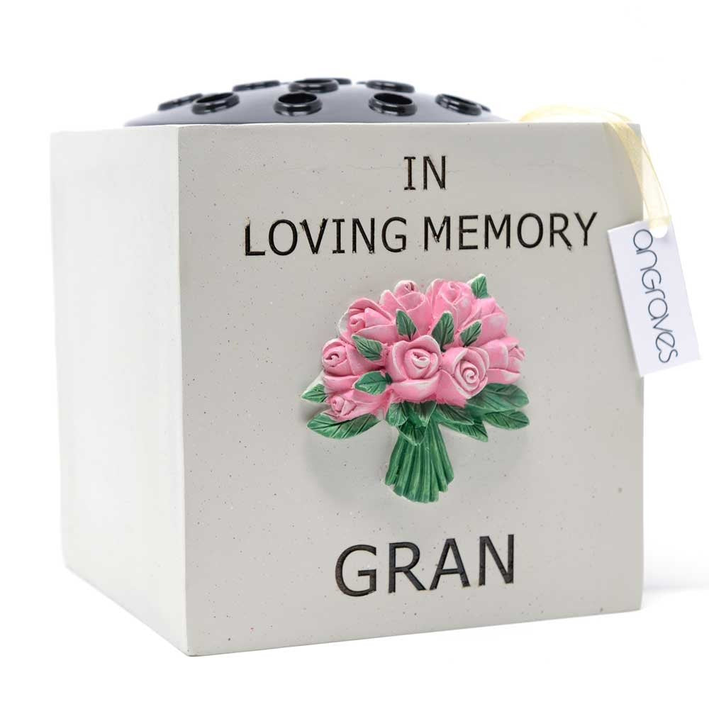 Special Gran Pink Rose Bouquet Flower Vase