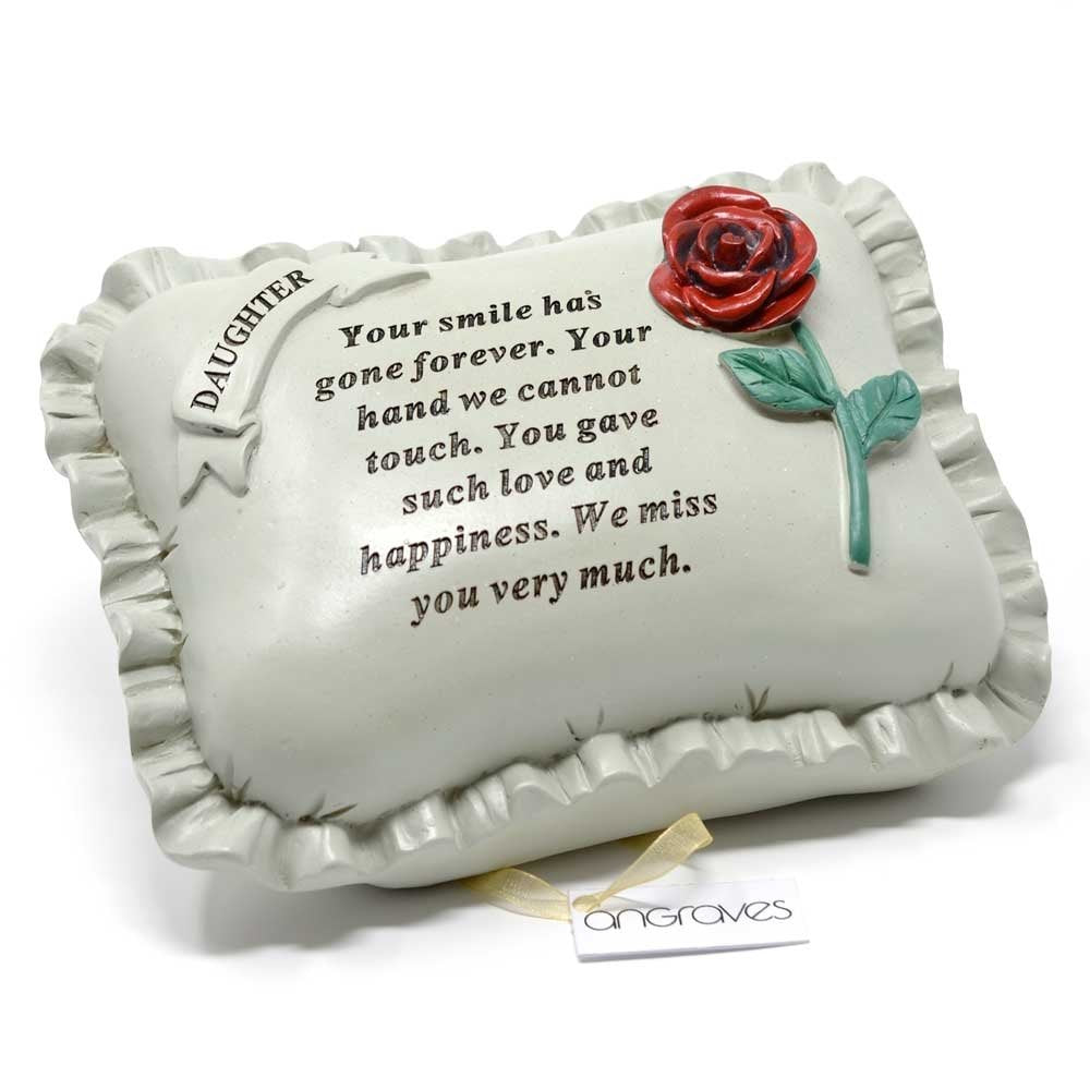 Special Daughter With Rose Pillow Graveside Ornament