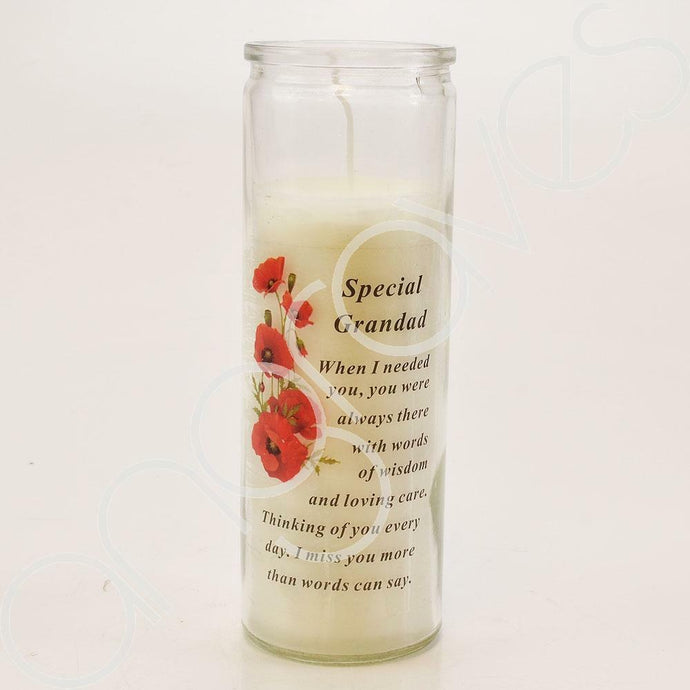 Special Grandad Thinking of You Every Day Real Wax Memorial Candle - Angraves Memorials