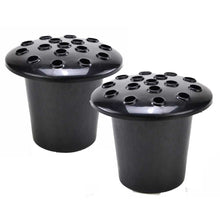 Load image into Gallery viewer, Set of 2 Black Memorial Headstone Grave Vases & Lids