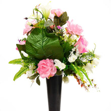 Load image into Gallery viewer, Lou Artificial Flower Arrangement in a Spiked Vase