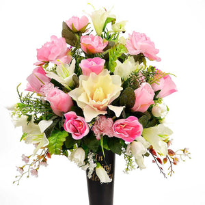 Lou Artificial Flower Arrangement in a Spiked Vase