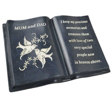 Load image into Gallery viewer, Special Mum & Dad Love & Peace Dove Black Memorial Book