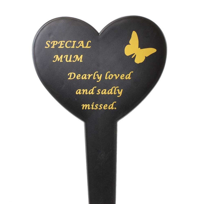 Special Mum Memorial Heart Remembrance Verse Ground Stake