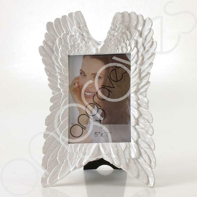White Angel Wing Photo Frame (5 x 7 inch)
