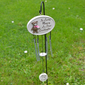 Dear Granddaughter Teddy Bear Memorial Wind Chime