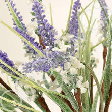 Load image into Gallery viewer, Christmas Glittered Frosted Lavender Artificial Flower Arrangement