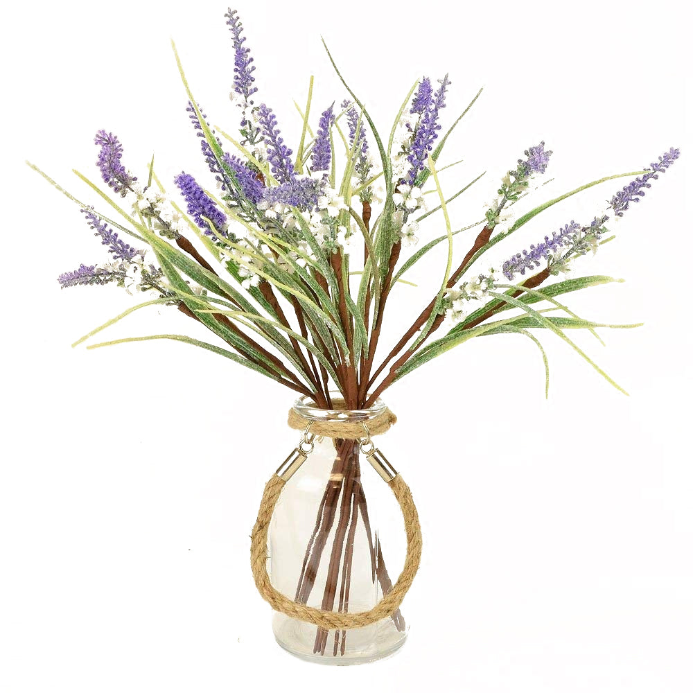 Christmas Glittered Frosted Lavender Artificial Flower Arrangement