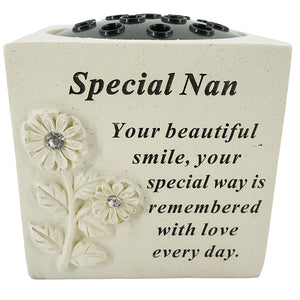Special Nan Diamante Flower Vase