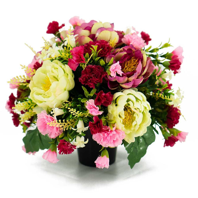 Alexa Pink Peony Artificial Flower Memorial Arrangement