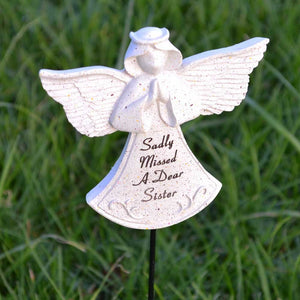 Sadly Missed Sister Guardian Angel Memorial Remembrance Stick