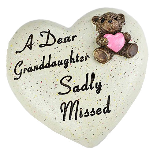 A Dear Granddaughter Sadly Missed Teddy Bear Heart