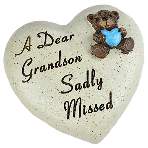 A Dear Grandson Sadly Missed Teddy Bear Heart