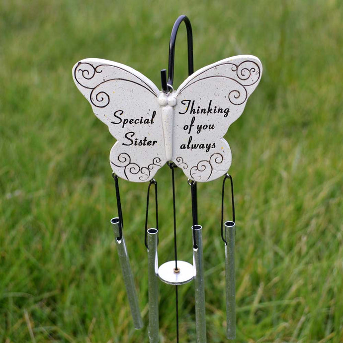 Special Sister Thinking Of You Always Butterfly Wind Chime