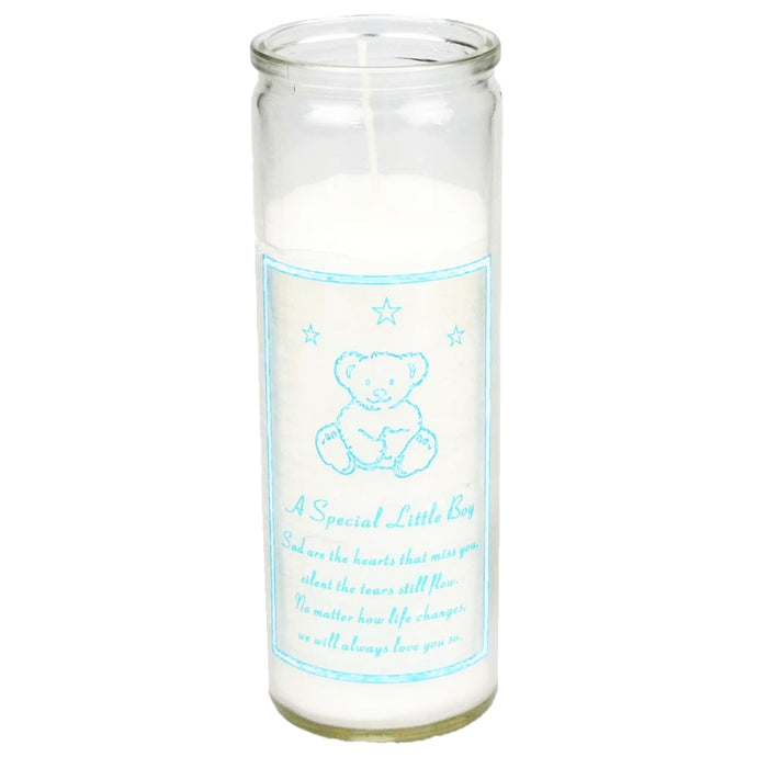 Special Little Boy Teddy Bear Memorial Candle