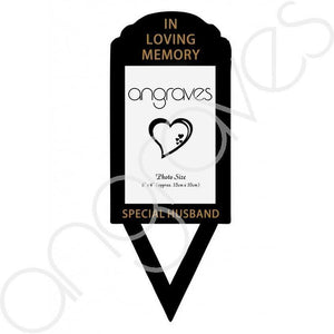 Special Husband Photo Frame Holder Ground Stake - Angraves Memorials