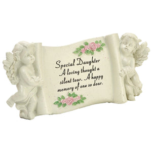 Special Daughter Graveside Memorial Scroll Plaque