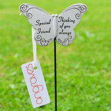 Load image into Gallery viewer, Thinking of you Always Special Friend Butterfly Memorial Remembrance Stick