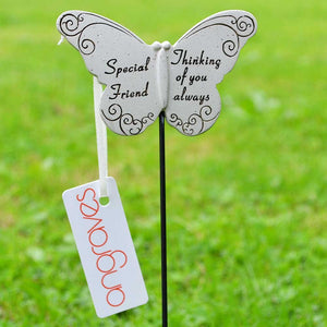 Thinking of you Always Special Friend Butterfly Memorial Remembrance Stick