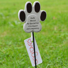 Load image into Gallery viewer, Special Cat Paw Print Pet Memorial Remembrance Stick