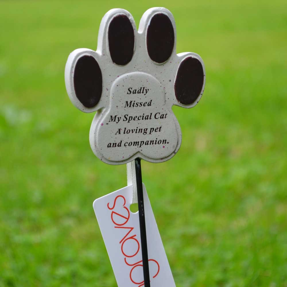 Special Cat Paw Print Pet Memorial Remembrance Stick