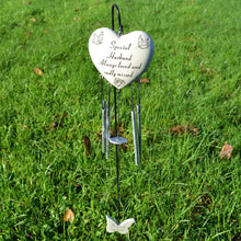 Load image into Gallery viewer, Special Husband Always Loved Sadly Missed Heart Wind Chime - Angraves Memorials