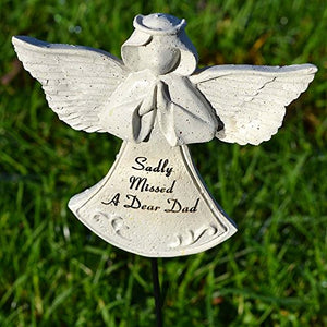 Sadly Missed Dad Guardian Angel Memorial Remembrance Stick