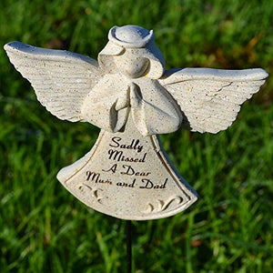 Sadly Missed Mum & Dad Guardian Angel Memorial Remembrance Stick