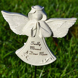 Sadly Missed Mum Guardian Angel Memorial Remembrance Stick
