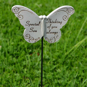 Thinking of you Always Special Son Butterfly Memorial Remembrance Stick