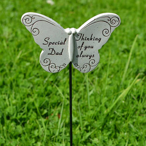 Thinking of you Always Special Dad Butterfly Memorial Remembrance Stick
