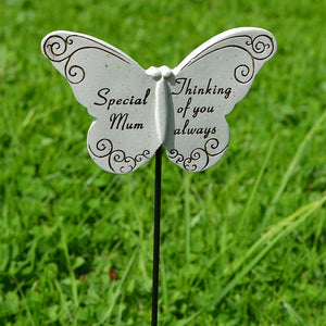 Thinking of you Always Special Mum Butterfly Memorial Remembrance Stick