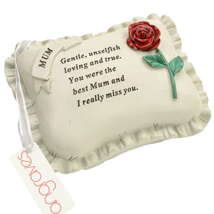 Special Mum With Rose Pillow Graveside Ornament
