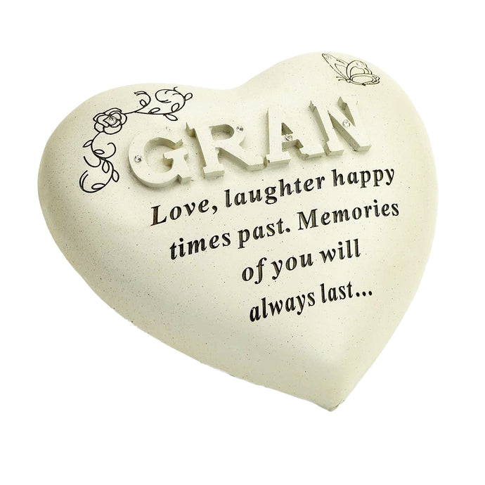 Special Gran Diamante Textured Heart Memorial Ornament