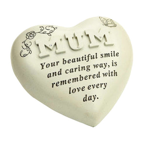 Special Mum Diamante Textured Heart Memorial Ornament