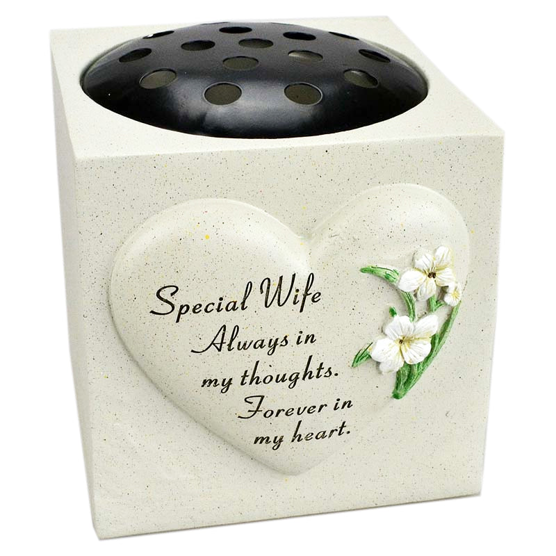 Special Wife  Heart & Daffodil Flower Vase