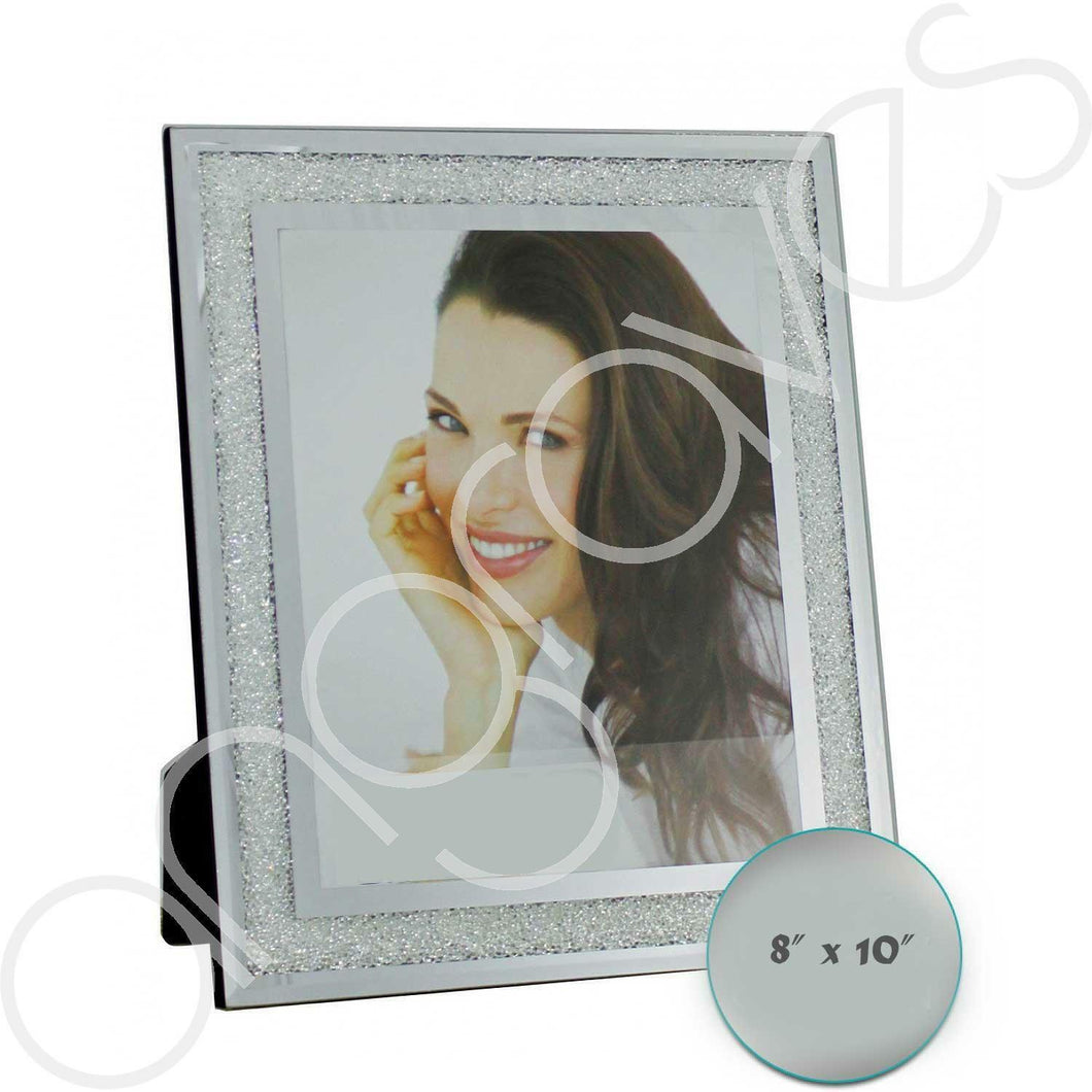 Diamond Crushed Glass Photo Frame (8 x 10 Inch) - Angraves Memorials