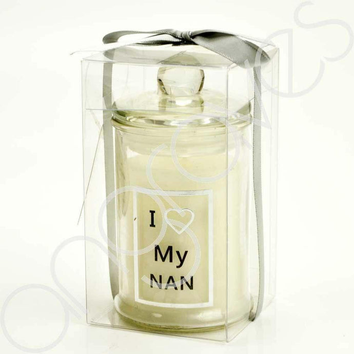 I Love My Nan Celebration or Memorial Real Wax Gift Candle - Angraves Memorials