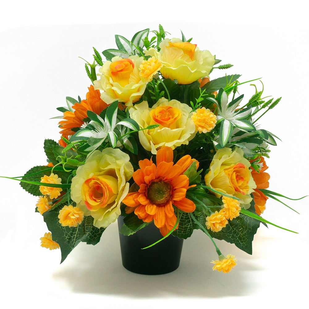 Noa Summer Yellow Roses Artificial Flower Arrangement