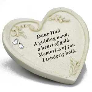 Special Dad Ornate Swirl Diamante Heart Ornament