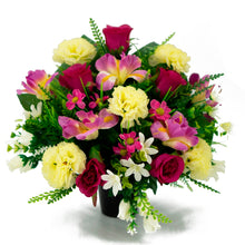 Load image into Gallery viewer, Bella Pink Roses Artificial Flower Memorial Arrangement