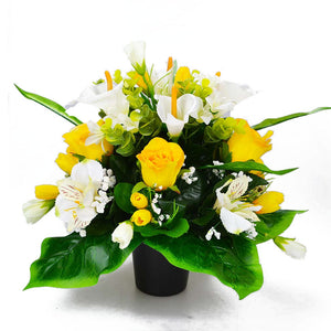 Carla Calla Lily & Orchid Rose Artificial Flower Arrangement