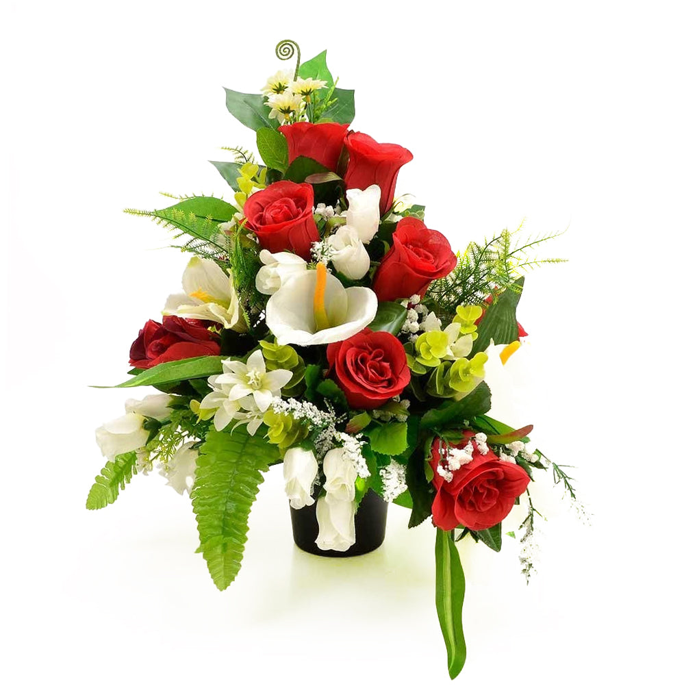 Cruz Red Rose Calla Lily Artificial Flower Arrangement