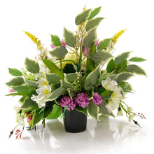 Load image into Gallery viewer, Mona White Lily Purple Tulip Artificial Flower Arrangement
