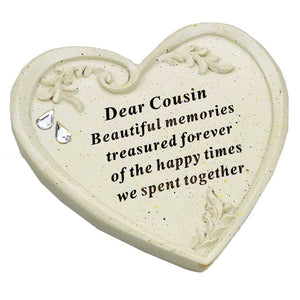 Special Cousin Ornate Swirl Diamante Heart Ornament - Angraves Memorials