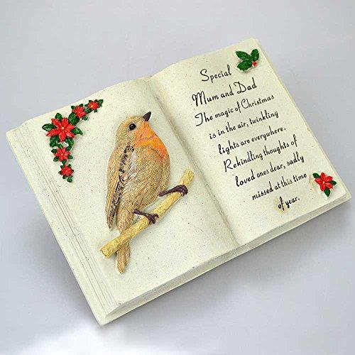 Special Mum & Dad Christmas Robin Memorial Book